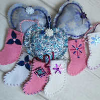 SALE - Half Price Decoration Bargain Bag - Frosty Pinks, Blues and Mauves