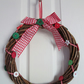 "12"" Rustic Wicker Wreath with Buttons and Gingham"