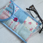 Blue and Pink Floral Patchwork Glasses or Phone Case