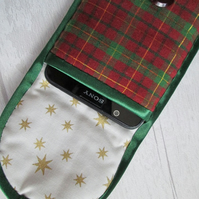Red and Green Plaid Glasses or Phone Case