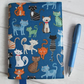 A6 Quirky Cats Reusable Notebook Cover
