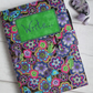 A5 Reusable Notebook Cover Funky Purple Floral