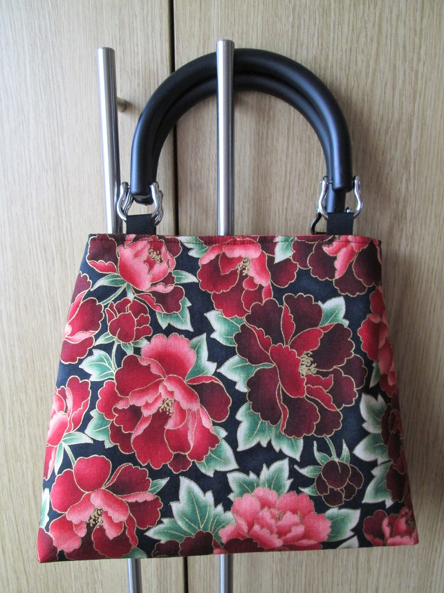 Small Red Paeony Handbag