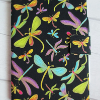 A5 Colourful Dragonflies Reusable Notebook Cover