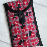 Scottie Dog Plaid Glasses or Phone Case