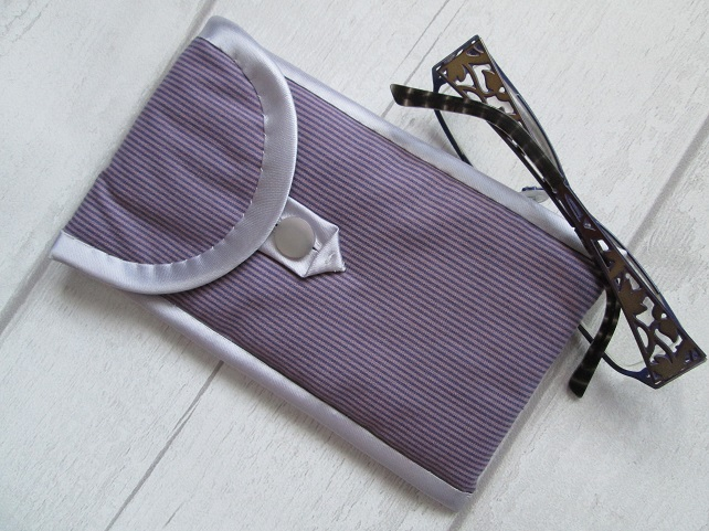 Mauve Stripe Glasses or Phone Case