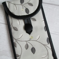 Grey Leaves Glasses or Phone Case