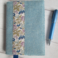 A6 'Harris Tweed' and Liberty Print Reusable Notebook Cover
