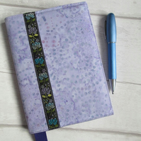 A6 Lilac Batik Reusable Notebook Cover