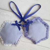 Pair of Lace Edged Lavender Bags
