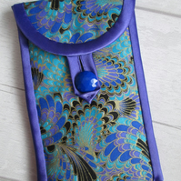 Blue and Purple Marbled Glasses or Phone Case