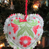 SALE - Trio of Scandi Fabric Hearts