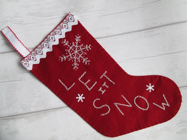 Second - Large Felt 'Let it Snow' Stocking