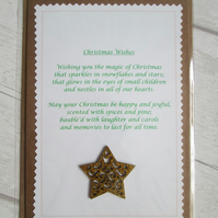 SALE - 'Christmas Wishes' Poetry Christmas Card