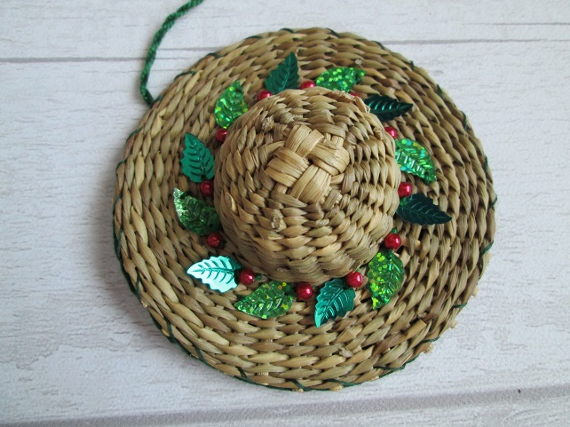 Christmas Hat Rustic Tree Decoration