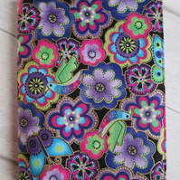 A6 Funky Floral Reusable Notebook Cover