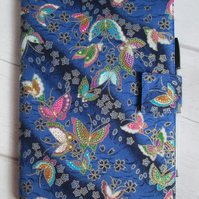 A5 Butterflies on Blue Reusable Notebook Cover