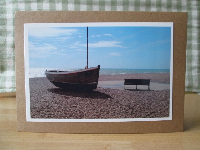 SOLD - Boat by the Sea Photo Greetings Card