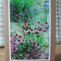 Flower Border Photo Greetings Card