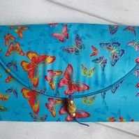 Rainbow Butterfly Clutch Bag