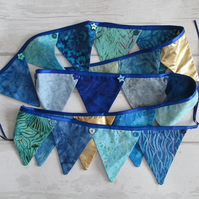 Mediterranean Bunting - Blue, Turquoise, Gold