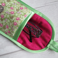 Green and Pink Floral Glasses or Phone Case