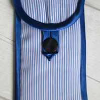 Blue Stripe Glasses or Phone Case