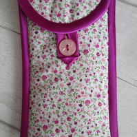 Ditsy Pink Floral Glasses or Phone Case