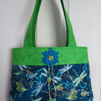 Blue & Green Dragonfly Handbag