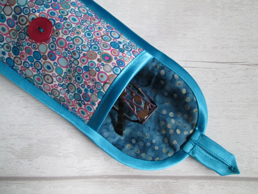 Blue and Pink Millefiori Circles, Spots Glasses or Phone Case