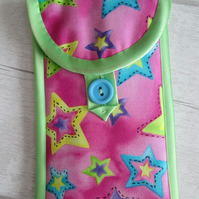 Bright Stars on Pink Glasses or Phone Case