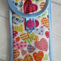 Patchwork Hearts Glasses or Phone Case