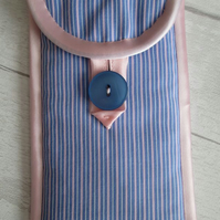 Pink and Blue Striped Shirting Glasses or Phone Case