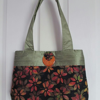Autumn Leaves Batik Bag