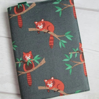 A6 Red Panda Reusable Notebook or Diary Cover
