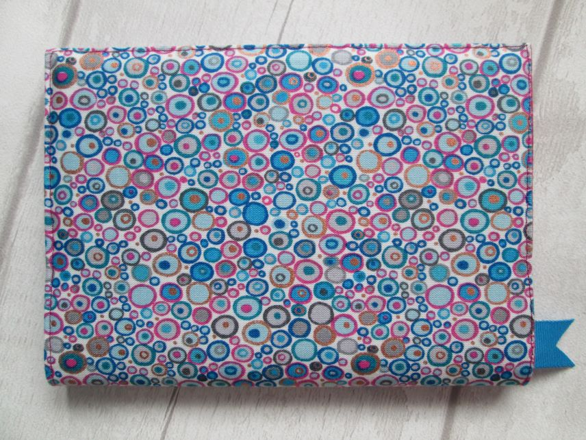 A6 Blue & Pink 'Millefiori' Style Reusable Notebook or Diary Cover