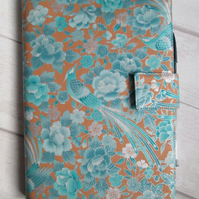A5 Oriental Blue Bird Reusable Notebook Cover