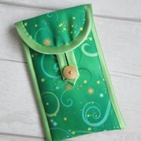 Green Swirl Glasses or Phone Case