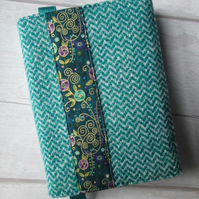A6 'Harris Tweed' Reusable Notebook, Diary Cover - Mackintosh Style