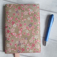 A6 Flowers & Butterflies on Gold - Reusable Notebook or Diary Cover