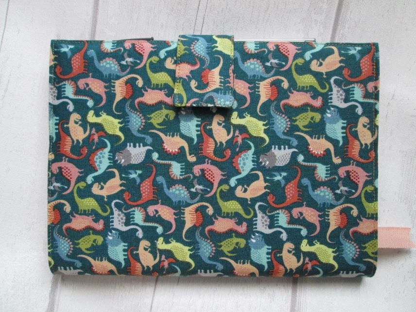 A5 Dinosaur Reusable Notebook Cover