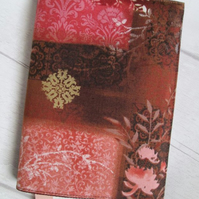 A6 Chocolate & Pink Collage Reusable Notebook or Diary Cover