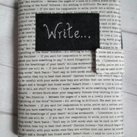 A5 Reusable Notebook Cover, Fabric Notebook - Writing Quotes, Writers