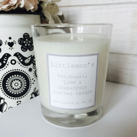 Handmade Candle - Patchouli, Lime and Grapefruit Candle