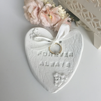 Handcrafted White Clay Wedding Ring dish