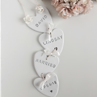 Handmade clay hanging wedding garland