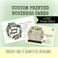 Custom Business Cards Design - plus 100 Printed Business Cards