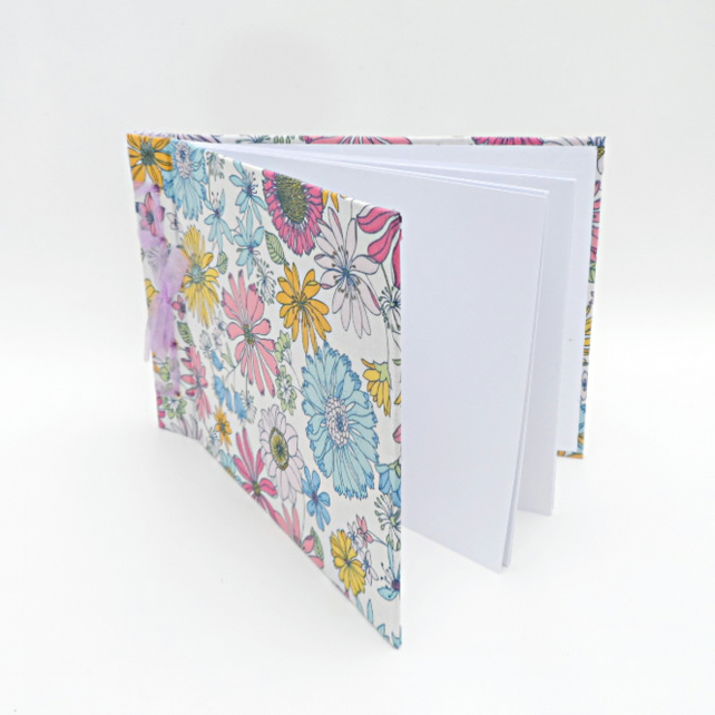A5 Album or Scrapbook, fabric covered