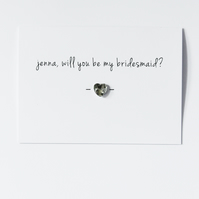 Personalised Will You Be My Bridesmaid? Button Card
