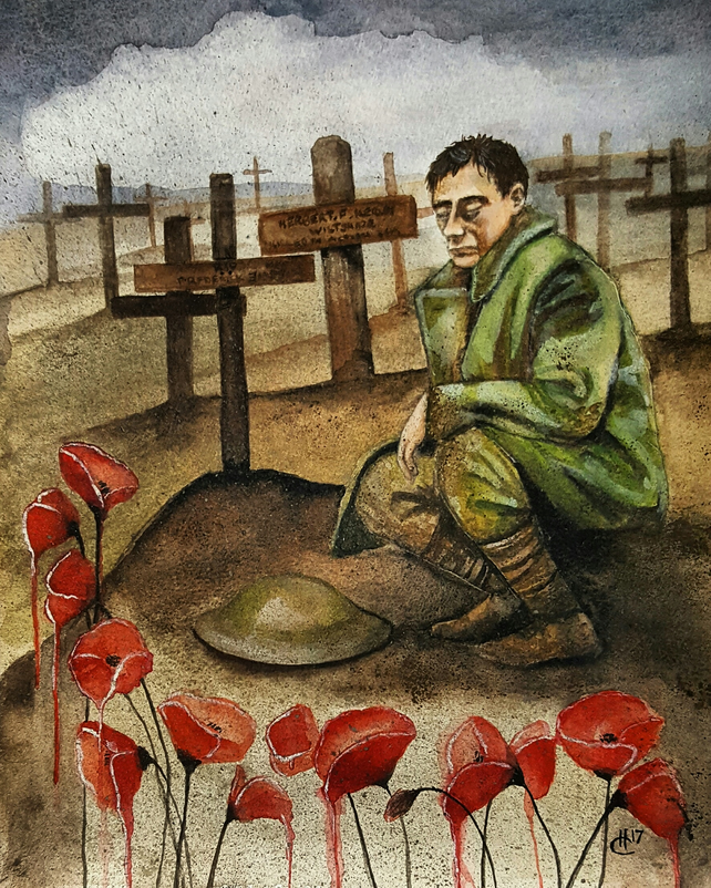 'Remember Them' - WW1 - limited edition print - gifts for men - military art
